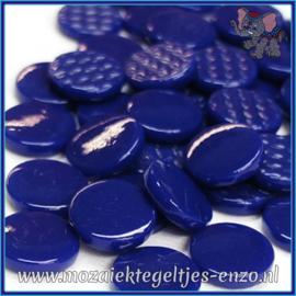 Glasmozaiek steentjes - Penny Rounds Normaal - 18 mm - Enkele Kleuren - per 50 gram - Royal Blue