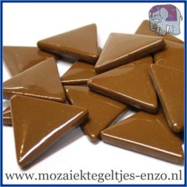 Glasmozaiek steentjes - Art Angles Gewoon - 29 mm - Enkele Kleuren - per 1 kilo - Coffee