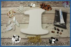 Mozaiek Kant & Klaar Pakket Piepschuim Huisnummer Groot - Cijfer 1 Bruin