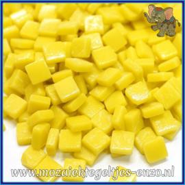 Glasmozaiek Pixel steentjes - Ottoman Matte - 0,8 x 0,8 cm - Enkele Kleuren - per 50 gram - Yellow Opal