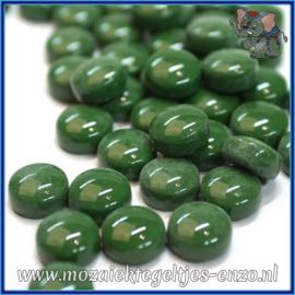 Glasmozaiek steentjes - Optic Drops Normaal - 12 mm - Enkele Kleuren - per 50 gram - Dark Green