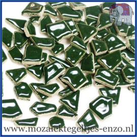 Keramische mozaiek steentjes - Keramiek Puzzel Stukjes Normaal - Enkele Kleuren - per 50 gram - Pesto