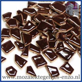 Keramische mozaiek steentjes - Keramiek Puzzel Stukjes Normaal - Enkele Kleuren - per 50 gram - Burnt Umber