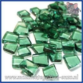 Glasmozaiek steentjes - Transparant Glass Puzzles Normaal - Enkele Kleuren - per 50 gram - Country Teal
