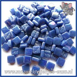 Glasmozaiek Pixel steentjes - Ottoman Parelmoer - 0,8 x 0,8 cm - Enkele Kleuren - per 50 gram - Warm Blue