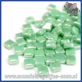 Glasmozaiek Pixel steentjes - Ottoman Parelmoer - 0,8 x 0,8 cm - Enkele Kleuren - per 50 gram - Meadow Green