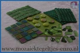 Mozaiek Kleur Pakket  Parelmoer - Groen
