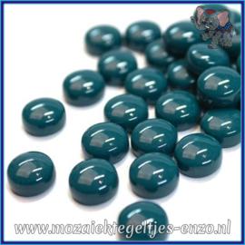 Glasmozaiek steentjes - Optic Drops Normaal - 12 mm - Enkele Kleuren - per 50 gram - Dark Teal