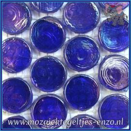 Glasmozaiek steentjes - Radiant Round Parelmoer - 18 mm - Enkele Kleuren - per 1 stuk - Mykonos