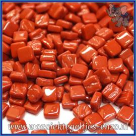 Glasmozaiek Pixel steentjes - Ottoman Normaal - 0,8 x 0,8 cm - Enkele Kleuren - per 50 gram - Blood Red