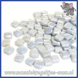 Glasmozaiek Pixel steentjes - Ottoman Parelmoer - 0,8 x 0,8 cm - Enkele Kleuren - per 50 gram - Pale Grey