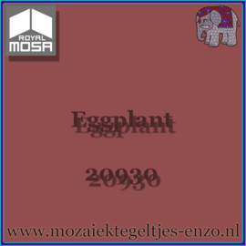 Binnen wandtegel Royal Mosa - Glanzend - 7,5 x 7,5 cm - Op maat gesneden - Eggplant 20930