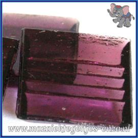 Glasmozaiek tegeltjes - Doorzichtig - 2 x 2 cm - Enkele Kleuren - per 20 steentjes - Plum