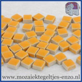 Geglazuurde Keramiek Stenen - 1 x 1 cm - Enkele Kleuren - per 60 steentjes - Curry