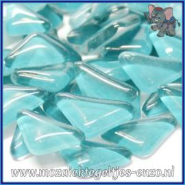 Glasmozaiek steentjes - Soft Glass Puzzles Normaal - Enkele Kleuren - per 50 gram - Light Aqua