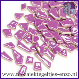 Keramische mozaiek steentjes - Keramiek Puzzel Stukjes Normaal - Enkele Kleuren - per 50 gram - Pretty Purple