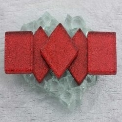 "- Glitter 2 x 2 cm - Heartbreak-Red-""S"""