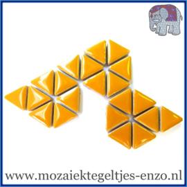 Keramische mozaiek steentjes - Triangles Driehoekjes Normaal - 15 mm - Enkele Kleuren - per 50 gram - Curry
