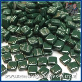 Glasmozaiek Pixel steentjes - Ottoman Normaal - 0,8 x 0,8 cm - Enkele Kleuren - per 50 gram - Dark Green