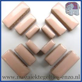 Keramische mozaiek steentjes - Keramiek Rectangles Rechthoekjes Normaal - 4, 6 en 10 mm - Enkele Kleuren - per 50 gram - Sweet Pink