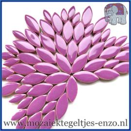 Keramische mozaiek steentjes - Petals Bloemblaadjes Normaal - 14 en 21 mm - Enkele Kleuren - per 50 gram - Purple