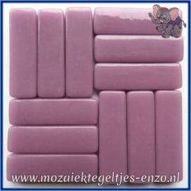 Glasmozaiek steentjes - Stix Rechthoekjes Staafjes XL Normaal - 12 x 38 mm - Enkele Kleuren - per 50 gram - Lilac