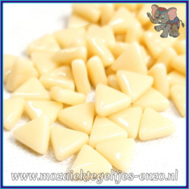 Glasmozaiek steentjes - Art Angles Normaal - 10 mm - Enkele Kleuren - per 50 gram - Cream
