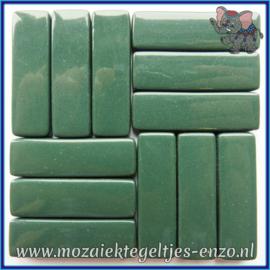 Glasmozaiek steentjes - Stix Rechthoekjes Staafjes XL Normaal - 12 x 38 mm - Enkele Kleuren - per 50 gram - Pine Green
