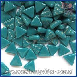 Glasmozaiek steentjes - Art Angles Normaal - 10 mm - Enkele Kleuren - per 50 gram - Dark Teal