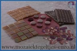 Mozaiek Kleur Pakket  Parelmoer - Roze