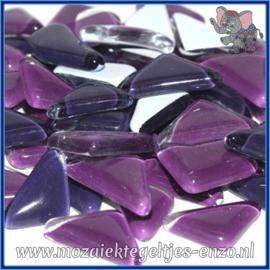 Glasmozaiek steentjes - Soft Glass Puzzles Normaal - Gemixte Kleuren - per 50 gram - Purple Pansy