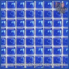 Glasmozaiek tegeltjes - Murrini Crystal - 1 x 1 cm - Enkele Kleuren - per 60 steentjes - Mini Cobalt Stone