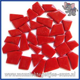 Glasmozaiek steentjes Snippets Puzzel Stukjes Normaal - Enkele Kleuren - per 50 gram - Blood Red