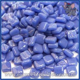 Glasmozaiek Pixel steentjes - Ottoman Normaal - 0,8 x 0,8 cm - Enkele Kleuren - per 50 gram - Warm Blue