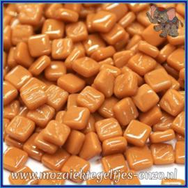 Glasmozaiek Pixel steentjes - Ottoman Normaal - 0,8 x 0,8 cm - Enkele Kleuren - per 50 gram - Brown Sugar