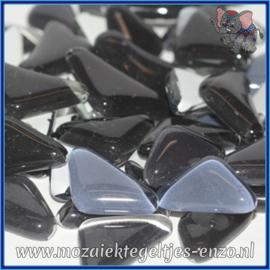 Glasmozaiek steentjes - Soft Glass Puzzles Normaal - Gemixte Kleuren - per 50 gram - Black Dahlia