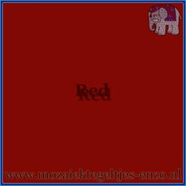 Binnen wandtegel - Glanzend - 7,5 x 7,5 cm - Op maat gesneden - Red