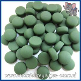 Glasmozaiek steentjes - Optic Drops Matte - 12 mm - Enkele Kleuren - per 50 gram - Green