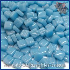 Glasmozaiek Pixel steentjes - Ottoman Normaal - 0,8 x 0,8 cm - Enkele Kleuren - per 50 gram - Mid Turquoise