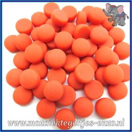 Glasmozaiek steentjes - Optic Drops Matte - 12 mm - Enkele Kleuren - per 50 gram - Mandarin