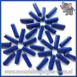 Glasmozaiek steentjes - Stix Rechthoekjes Staafjes Normaal - 6 x 20 mm - Enkele Kleuren - per 50 gram - Rich Blue