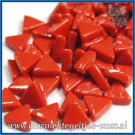 Glasmozaiek steentjes - Art Angles Normaal - 10 mm - Enkele Kleuren - per 50 gram - Bright Red