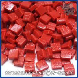Glasmozaiek Pixel steentjes - Ottoman Matte - 0,8 x 0,8 cm - Enkele Kleuren - per 50 gram - Blood Red