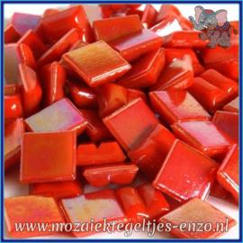 Glasmozaiek tegeltjes - Parelmoer - 1 x 1 cm - Enkele Kleuren - per 60 steentjes - Mini Fires Agate