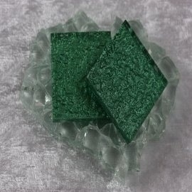 "Glasmozaïek Pearl Sparkle 2,5 x 2,5 cm - Evergreen -""S"""