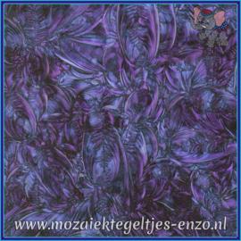 Plaatglas - Van Gogh Glass Normaal - 5 x 10 cm - Gemixte Kleuren - per 1 stuk - Blue Violet