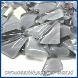 Glasmozaiek steentjes - Soft Glass Puzzles Normaal - Enkele Kleuren - per 50 gram - Grey