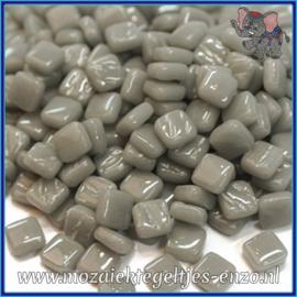 Glasmozaiek Pixel steentjes - Ottoman Normaal - 0,8 x 0,8 cm - Enkele Kleuren - per 50 gram - Midtone Grey