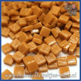 Glasmozaiek Pixel steentjes - Ottoman Matte - 0,8 x 0,8 cm - Enkele Kleuren - per 50 gram - Brown Sugar