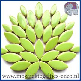 Keramische mozaiek steentjes - Petals Bloemblaadjes Normaal - 14 en 21 mm - Enkele Kleuren - per 50 gram - Kelly Green